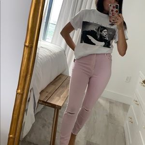 Zee Gee Why Pink Skyscraper High Waisted Jeans